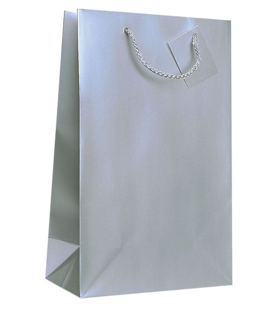 2 Bottle Wine Bag in Silver