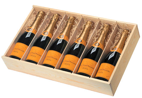 Wooden Champagne Box For 6 Bottles