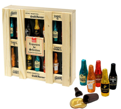 Abtey Chocolate Liqueur Selection Wooden Box