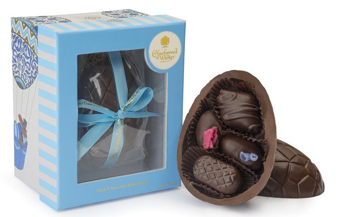 Charbonnel Walker Dark Easter Egg with Dark Chocolates 225g