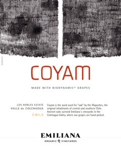 Coyam Red Wine Label