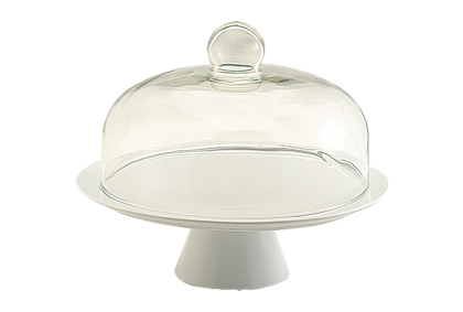 Bia Cake Stand with Glass Dome 26cm (image 1)