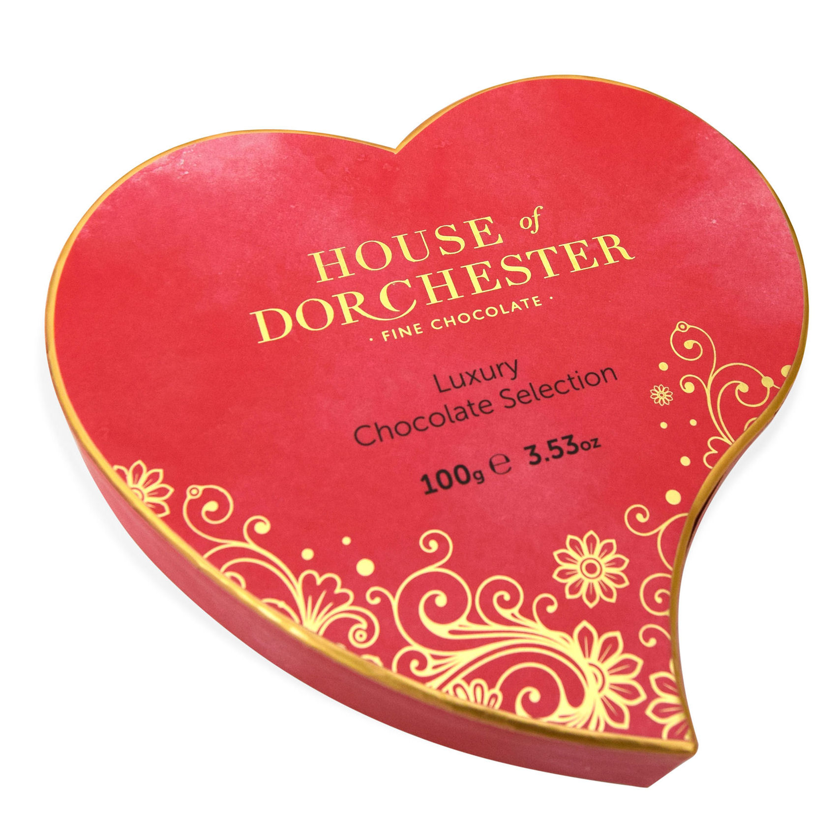 The House of Dorchester Heart Box Luxury Chocolates 100g