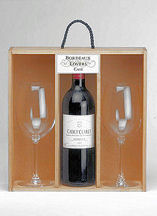 Bordeaux Lovers Case With Glasses