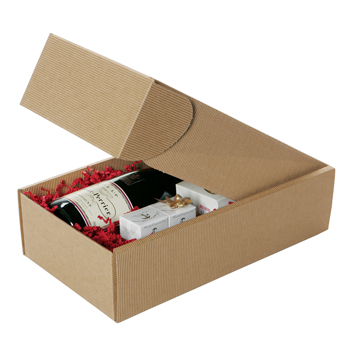 Fluted Hamper Box; Suitable for 2 bottles