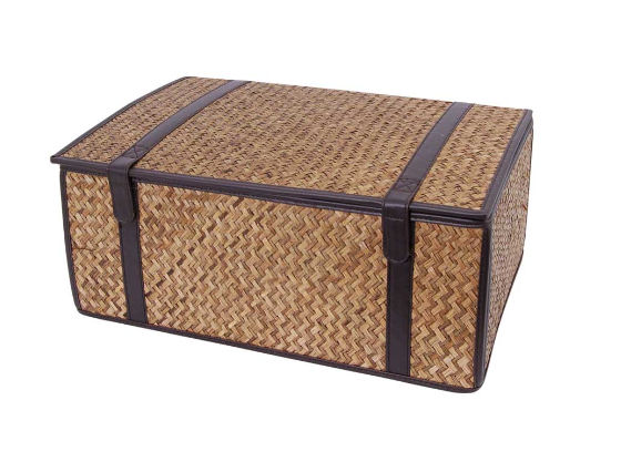 Folding Matt Grass 15 Inch Hamper