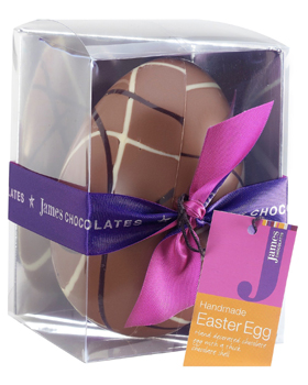 James Chocolates Milk Chocoloate Easter Egg 130g (image 1)