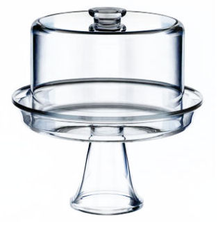 Acrylic Cake Dome with Raised Stand 30cm (image 1)