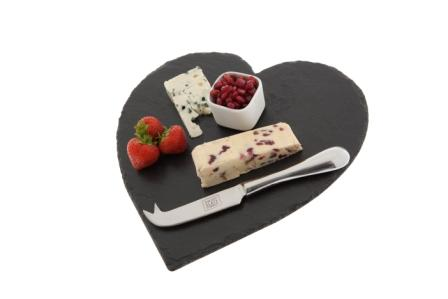 Just Slate Heart Shaped Cheeseboard Giftset (image 2)