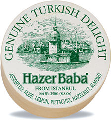 Hazer Baba Assorted Turkish Delight 250g Wooden Drum (image 1)