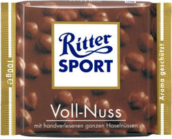 Rittersport Hazelnut Bar 100g (image 1)