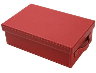 Small Faux Leather Red Hamper Giftbox (image 1)