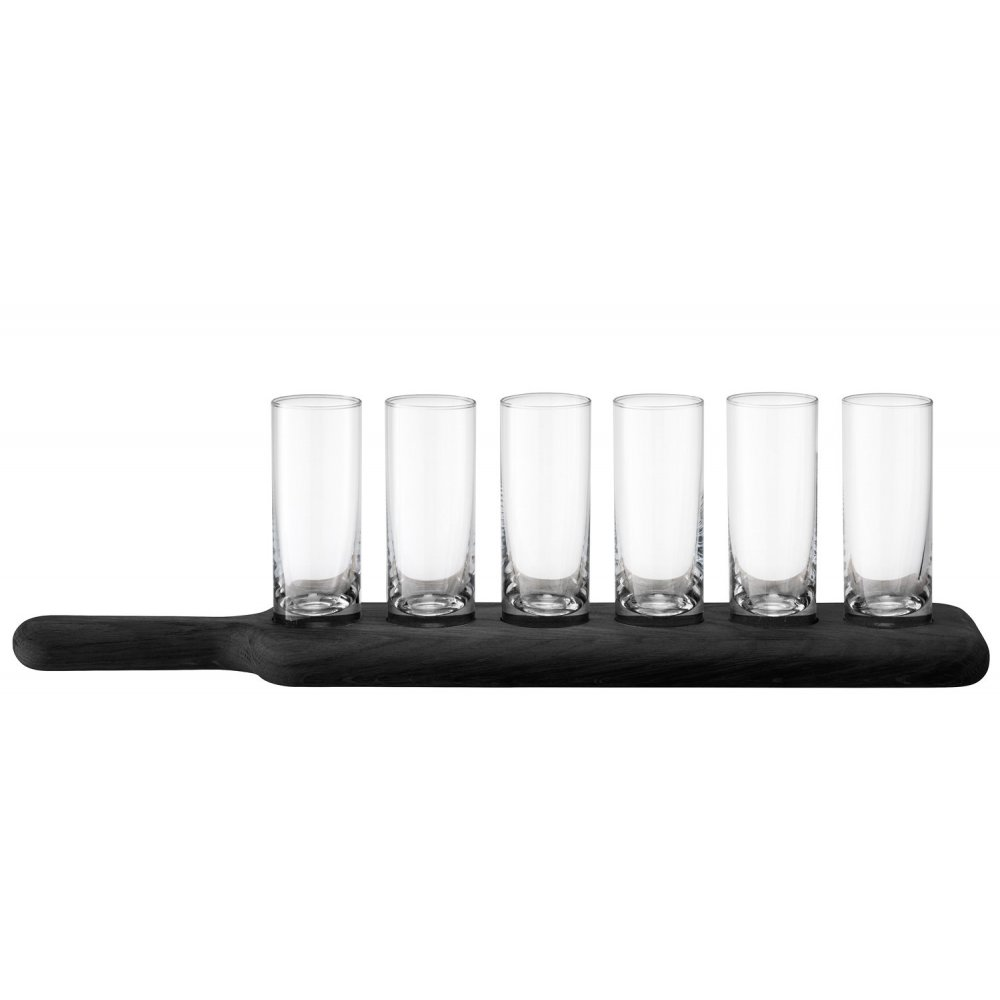 LSA Paddle Vodka Set on Black Beech