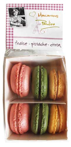 Macaroons de Pauline Strawberry, Pistachio Lemon 12pc 72g