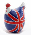 Martin Gulliver Hot Hen Egg Cup in Union Jack
