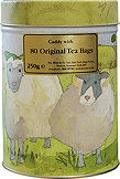 Miles Tea Caddy Of Original Tea Bags In Sheep Tin 80pc 250g