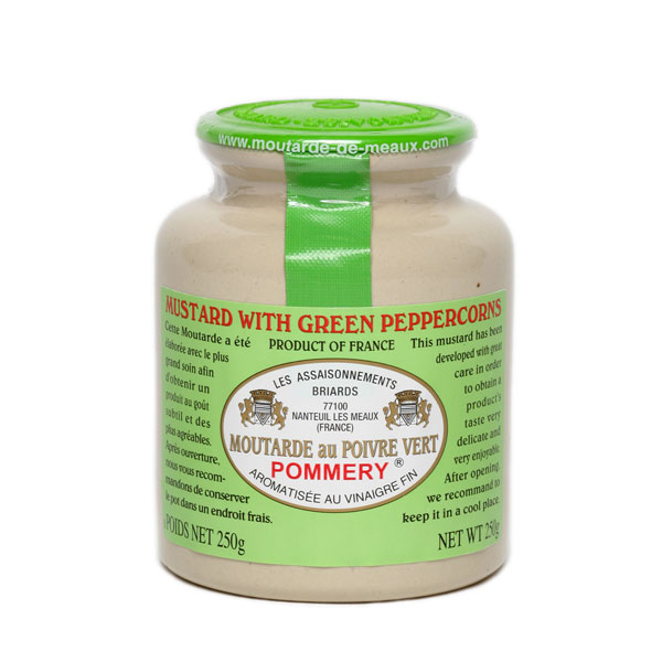Mustard with Green Peppercorns In Stoneware Jar 500g