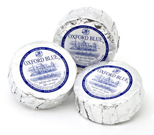 Oxford Blue Cheese 320g; image shows 3 cheeses