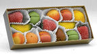 Shepcote Marzipan Fruits 150g Gold Tray 14pc