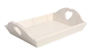Tg Woodware Tray Rectangular In Cream