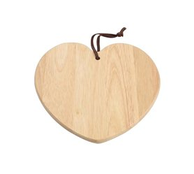 Tg Woodware Heart Shaped Board in Heva
