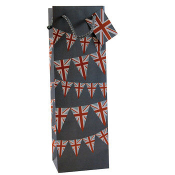 1 Bottle Wine Bag Union Jack Bunting (image 1)