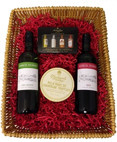 Chocolates And French Wine Giftbox