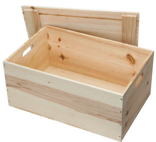 Large Wooden Hamper Box (Empty)