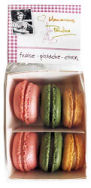 Macaroons de Pauline Strawberry Pistachio Lemon 6Pc