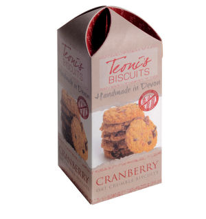 Teonis White Cranberry Oat Crumble Biscuits 200G