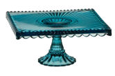 Anton Studios Cake Plate Stand in Blue