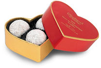 Charbonnel Walker Champagne Truffles Red Heart Box 34g 3Pc