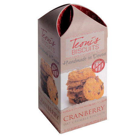 Teonis Cranberry Oat Crumble Biscuits 200G