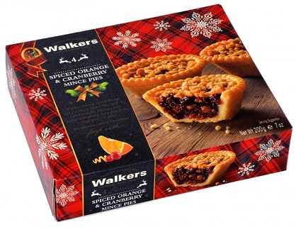 Walkers Spiced Orange Cranberry Mince Pies 200g 4pc