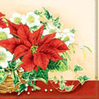 Ambiente Serviete In Christmas Flower Design