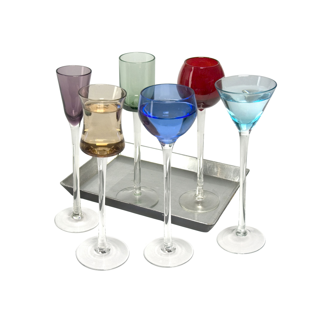 Artland Jewel Liqueur Glasses 6pc Tall