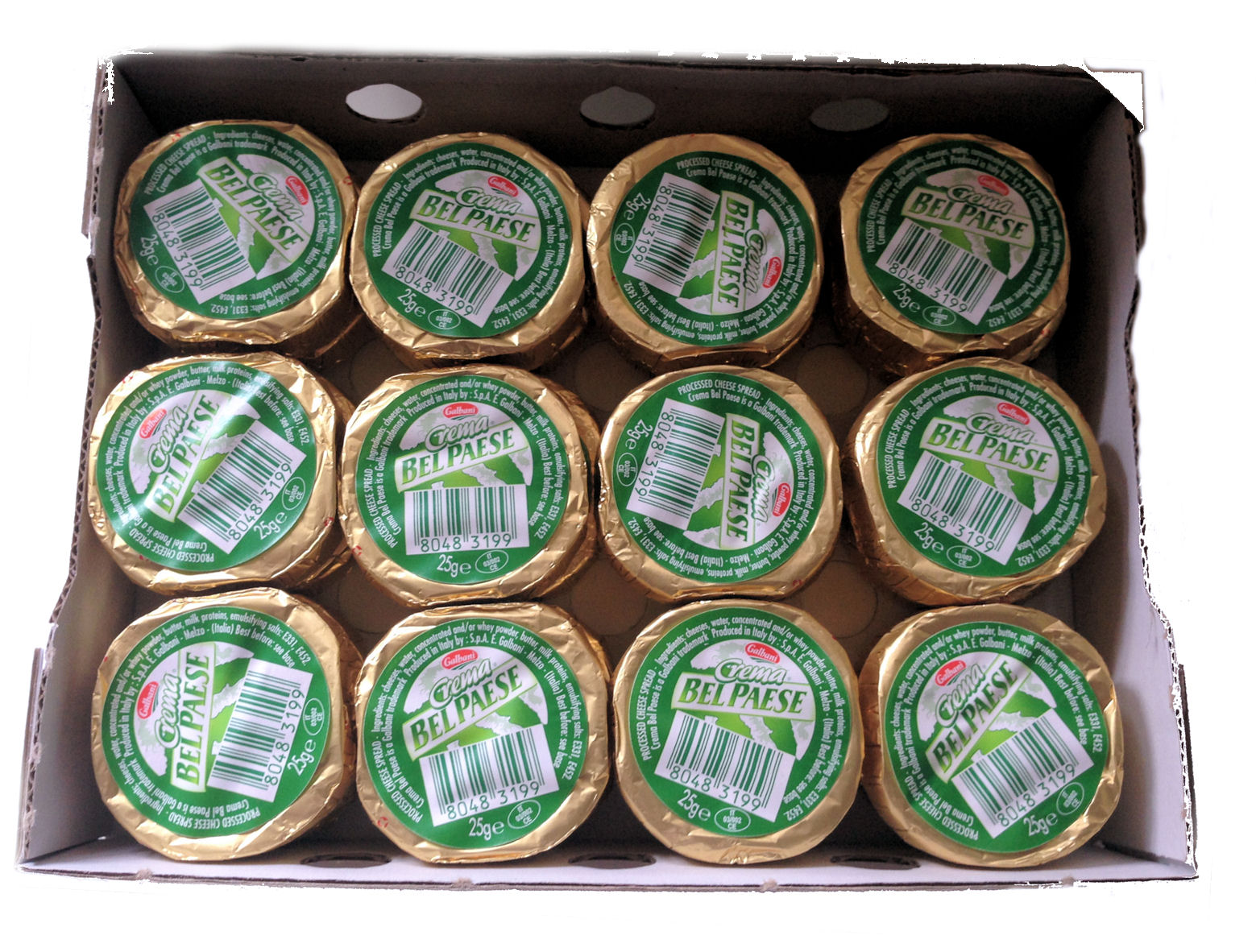 Galbani Bel Paese Cheese Buttons 25g 24 Button Box