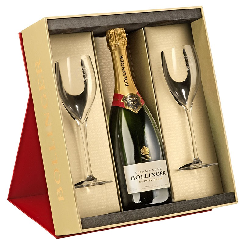 Bollinger Special Cuvée Champagne and Two Glasses Set 75cl