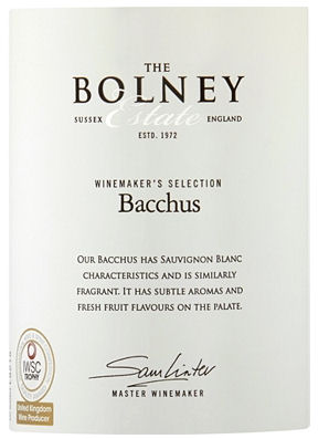 Bolney Estate Foxhole Vineyard Bacchus 75cl label