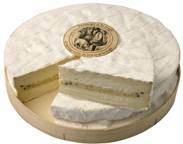 French Brie With Truffles | Brie Truffe 700g Cut