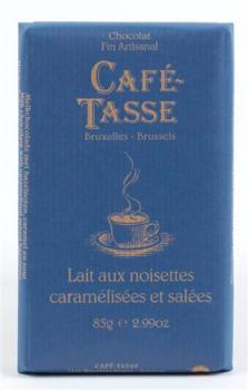 Cafe Tasse Milk Chocolate with Hazelnuts Caramel and Sea Salt 85g (image 1)