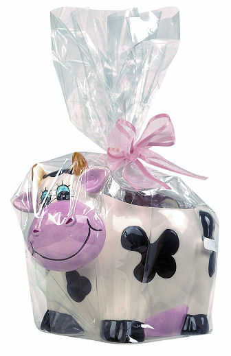 Ceramic Cow with Belgian Chocolates 200g (image 1)