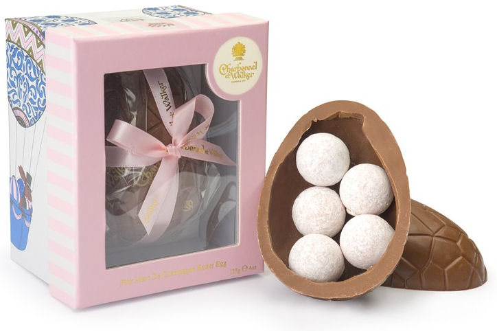 Charbonnel Walker Easter Egg with Pink Champagne Truffles 115g