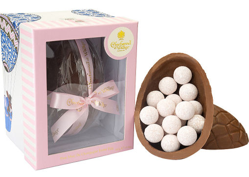 Charbonnel Walker Easter Egg with Pink Champagne Truffles 450g
