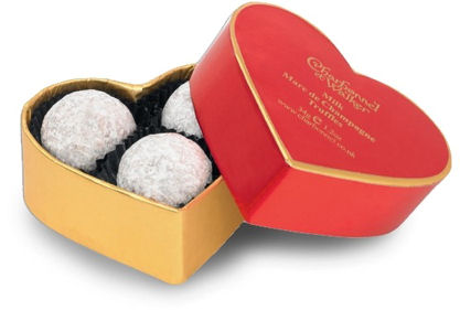 Charbonnel Walker Champagne Truffles Red Heart Box 34g 3Pc (image 1)