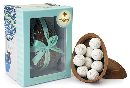 Milk Chocolate Easter Egg with Sea Salt Caramel; NOTE image shows 225g Egg