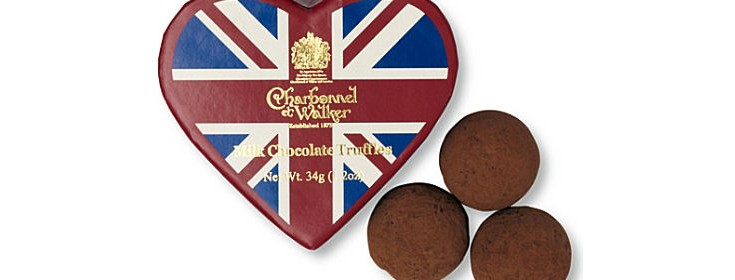 Charbonnel Walker Union Jack Heart Box 34g 3Pc (image 1)