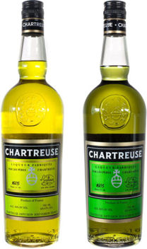 Yellow and Green Chartreuse; both available at The Cheese and Wine Shop