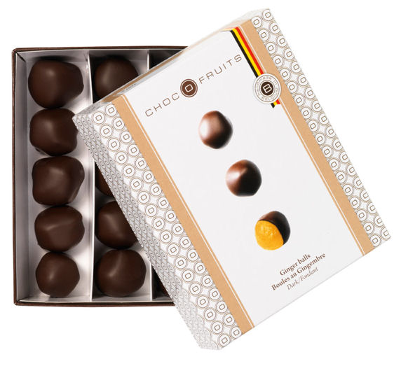 Chocofruits Ginger Balls in Dark Chocolate 200g