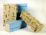 Collapsable 1 Bottle Box Beige